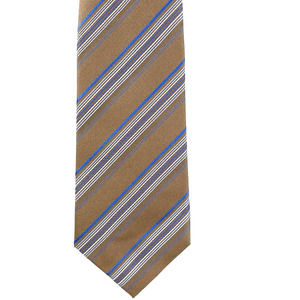 Marc Anthony Silk Striped Tie Tan and Blue